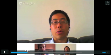 Michael Chui of McKinsey in a Hangout with us. In the Hangout, Michael Chui went through all the major findings in McKinsey's social media study – and helped translate the findings into the world of Maersk Line.